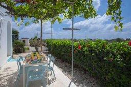 Терраса. Кипр, Коннос Бэй : Великолепная семейная вилла в Кипрском стиле с красивым зелёным садом, с видом на Средиземное море, с 3-мя спальнями и приватным двориком с патио