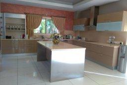 Кухня. Кипр, Пареклисия : Современная вилла с большим бассейном и зеленым двориком с барбекю, 4 спальни, 4 ванные комнаты, парковка, Wi-Fi