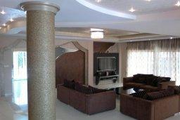 Гостиная. Кипр, Пареклисия : Современная вилла с большим бассейном и зеленым двориком с барбекю, 4 спальни, 4 ванные комнаты, парковка, Wi-Fi