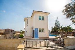 Фасад дома. Кипр, Ионион - Айя Текла : Роскошная вилла с бассейном и большим двором с патио и барбекю, 3 спальни, 2 ванные комнаты, парковка, Wi-Fi