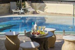 Бассейн. Кипр, Нисси Бич : Комфортабельная вилла с 2 спальнями, с бассейном с водопадом, зелёным садом, тенистой террасой с патио и каменным барбекю