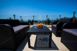 Патио. Кипр, Хлорака : Современная вилла с бассейном и двориком с барбекю, 3 спальни, 2 ванные комнаты, парковка, Wi-Fi