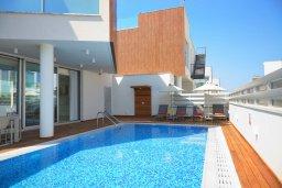 Бассейн. Кипр, Пернера Тринити : Потрясающая вилла с видом на Средиземное море, с 3-мя спальнями, с бассейном, солнечной меблированной террасой на крыше с джакузи, расположена в прекрасном тихом районе Ayia Triada около пляжа Trinity Beach