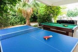 Развлечения и отдых на вилле. Кипр, Корал Бэй : Роскошная вилла с невероятным видом на море, с 3-мя спальнями, 2-мя ванными комнатами, бассейном, бильярдом, настольным теннисом и барбекю, расположена на пляже в Coral Bay