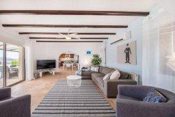 Гостиная. Кипр, Пейя : Роскошная вилла с бассейном и джакузи, 4 спальни, 3 ванные комнаты, настольный теннис, барбекю, парковка, Wi-Fi