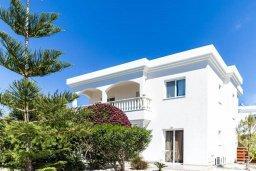 Фасад дома. Кипр, Св.Георг : Роскошная вилла с бассейном, джакузи и зеленым двориком с барбекю, 5 спален, 4 ванные комнаты, парковка, Wi-Fi