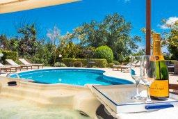 Бассейн. Кипр, Пейя : Роскошная вилла с бассейном, зеленым двориком с джакузи, барбекю, 5 спален, 2 ванные комнаты, парковка, Wi-Fi