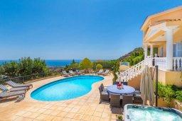 Бассейн. Кипр, Пейя : Роскошная вилла с бассейном, зеленым двориком с джакузи, бильярдом, барбекю, 4 спальни, 2 ванные комнаты, парковка, Wi-Fi