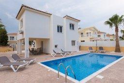 Фасад дома. Кипр, Ионион - Айя Текла : Прекрасная вилла с бассейном в 100 метрах от моря, 3 спальни, барбекю, парковка, Wi-Fi