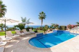 Бассейн. Кипр, Корал Бэй : Роскошная вилла с невероятным панорамным видом на море, с 7-ю спальнями, 7-ю ванными комнатами, бассейном, джакузи, зелёным садом, барбекю, бильярд, расположена в самом сердце Coral Bay