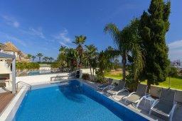 Бассейн. Кипр, Каппарис : Роскошная вилла в 100 метрах от пляжа с бассейном и зеленым двориком, 3 спальни, 2 ванные комнаты, барбекю, парковка, Wi-Fi