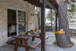 Терраса. Кипр, Троодос : Современный традиционный коттедж с 3 спальнями, с приватным двориком с террасой и барбекю, расположен на горном курорте Platres