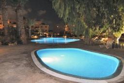 Бассейн. Кипр, Пафос город : Апартамент с в балконом с видом на Средиземное море, с отдельной спальней, гостиной, расположен в комплексе с большим бассейном и зеленой территорией