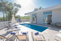 Бассейн. Кипр, Каво Марис Протарас : Современная вилла с 5-ю спальнями, с бассейном, бильярдом, солнечной террасой с патио и барбекю, расположена в 400 метрах от пляжа Vizakia beach
