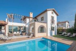 Фасад дома. Кипр, Ионион - Айя Текла : Прекрасная вилла с бассейном и двориком с барбекю, 3 спальни, 2 ванные комнаты, парковка, Wi-Fi