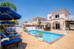Фасад дома. Кипр, Ионион - Айя Текла : Уютная вилла с бассейном и двориком с барбекю, 2 спальни, 2 ванные комнаты, парковка, Wi-Fi