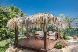 Патио. Кипр, Санрайз Протарас : Уютная вилла с бассейном и зеленым двориком с барбекю, 5 спален, 3 ванные комнаты, парковка, Wi-Fi