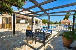 Территория. Кипр, Нисси Бич : Роскошная вилла с видом на море и на горы, с 5-ю спальнями, с бассейном, тенистой террасой с патио и барбекю, в окружении зелёного сада, расположена в тихом районе Ayia Napa