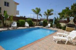 Бассейн. Кипр, Нисси Бич : Очаровательная вилла с 3-мя спальнями, с бассейном, в окружении ландшафтного сада, тенистой террасой с патио и каменным барбекю, расположена недалеко от знаменитого пляжа Nissi Beach