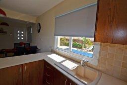 Кухня. Кипр, Нисси Бич : Очаровательная вилла с 3-мя спальнями, с бассейном, в окружении ландшафтного сада, тенистой террасой с патио и каменным барбекю, расположена недалеко от знаменитого пляжа Nissi Beach