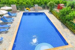 Бассейн. Кипр, Лачи : Очаровательная вилла с видом на залив Chrysochous, с 4-мя спальнями. 4-мя ванными комнатами, бассейном в окружение пышного зелёного сада, с солнечной террасой с беседкой и барбекю