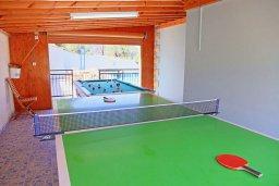 Развлечения и отдых на вилле. Кипр, Аргака : Роскошная уединенная кипрская вилла с панорамным видом на море, с 4-мя спальнями, с бассейном, в окружение зелёного сада, солнечной террасой с патио и барбекю, расположена в Agia Marina