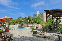 Территория. Кипр, Полис город : Впечатляющая каменная вилла с 5-ю спальнями, 4-мя ванными комнатами, бассейном, в окружение пышного зелёного сада, беседкой с патио и каменным барбекю, и детской площадкой,  расположена в Goudi