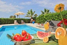 Бассейн. Кипр, Аргака : Прекрасная вилла с видом на море, с 3-мя спальнями, 2-мя ванными комнатами, бассейном, тенистой террасой с патио и барбекю, расположена всего в 50 метрах от пляжа залива Chrysochous Bay