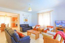 Гостиная. Кипр, Аргака : Очаровательная вилла с панорамным видом на море, с 3-мя спальнями, бассейном, в окружение зелёного сада, солнечной террасой с патио и барбекю, расположена у песчаного пляжа Argaka