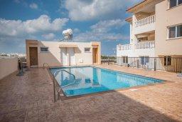 Бассейн. Кипр, Каппарис : Апартамент в комплексе с бассейном, с гостиной, отдельной спальней и балконом