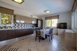 Кухня. Кипр, Пейя : Роскошная вилла с видом на Средиземное море  и горы, с 4-мя спальнями, с бассейном в окружении пышного зелёного сада, тенистой террасой с патио и барбекю, расположена недалеко от пляжа Coral Bay Beach