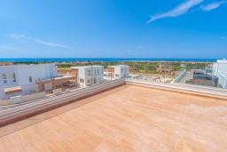 Терраса. Кипр, Киссонерга : Роскошная вилла с бассейном и зеленым двориком с барбекю, 4 спальни, 4 ванные комнаты, джакузи, парковка, Wi-Fi
