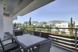 Балкон. Кипр, Св. Рафаэль Лимассол : Роскошный апартамент в комплексе с бассейном, 100 метров до пляжа, большая гостиная, 2 спальни, балкон