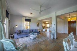 Гостиная. Кипр, Пернера : Прекрасная вилла с потрясающим видом на море, с 4-мя спальнями, 2-мя ванными комнатами, зелёным двориком, тенистой террасой с патио и барбекю, расположена в в 50 метрах от пляжа