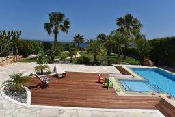 Территория. Кипр, Лачи : Вилла в классическом средиземноморском стиле, на первой линии у пляжа в Лачи с бассейном, огромной зелёной территорией, 5 спален, 4 ванные, барбекю, парковка, домашний кинотеатр, тренажерный зал, Wi-Fi