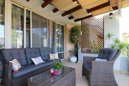 Патио. Кипр, Айос Тихонас Лимассол : Таунхаус с зеленым двориком в комплексе с бассейном, с просторной гостиной, двумя спальнями, двумя ванными комнатами