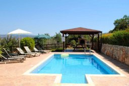 Бассейн. Кипр, Пано-Акурдалия : Уютная вилла с бассейном и зеленым двориком с барбекю, 3 спальни, 3 ванные комнаты, парковка, Wi-Fi