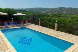 Бассейн. Кипр, Милиу : Прекрасная вилла с бассейном и двориком с барбекю, 3 спальни, 2 ванные комнаты, парковка, Wi-Fi