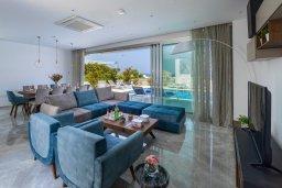 Гостиная. Кипр, Фиг Три Бэй Протарас : Современная вилла с видом на море, с 6-ю спальнями, 4-мя ванными комнатами, бассейном, сауной, джакузи и патио на крыше