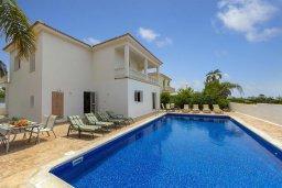 Фасад дома. Кипр, Нисси Бич : Прекрасная вилла с бассейном и двориком с барбекю, 4 спальни, 3 ванные комнаты, парковка, Wi-Fi
