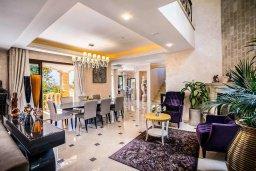 Гостиная. Кипр, Аргака : Роскошная вилла с бассейном и зеленым двориком с барбекю, 5 спален, 5 ванных комнат, сауна, парковка, Wi-Fi