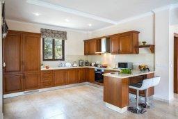 Кухня. Кипр, Аргака : Роскошная вилла с бассейном и зеленым двориком с барбекю, 4 спальни, 6 ванных комната, сауна, парковка, Wi-Fi