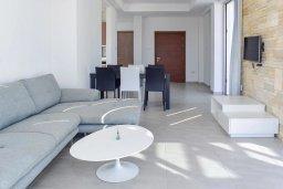 Гостиная. Кипр, Коннос Бэй : Современная вилла с 3-мя спальнями, 2-мя ванными комнатами, с бассейном, тенистой террасой с патио и барбекю, расположена всего в 500 метрах от тихого пляжа Mimosa Beach