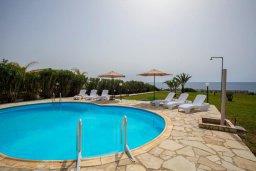 Бассейн. Кипр, Си Кейвз : Прекрасная пляжная вилла с бассейном и зеленым двориком с барбекю, 4 спальни, 4 ванные комнаты, парковка, Wi-Fi