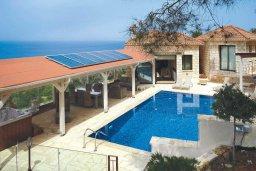 Бассейн. Кипр, Помос : Прекрасная вилла с бассейном и видом на море, 4 спальни, 5 ванных комнат, парковка, Wi-Fi