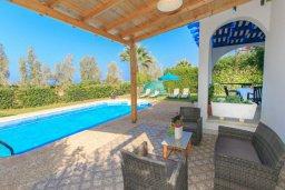 Патио. Кипр, Аргака : Уютная вилла с бассейном и зеленым двориком с барбекю, 2 спальни, 3 ванные комнаты, парковка, Wi-Fi