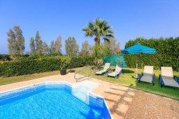Зона отдыха у бассейна. Кипр, Аргака : Уютная вилла с бассейном и зеленым двориком с барбекю, 2 спальни, 3 ванные комнаты, парковка, Wi-Fi