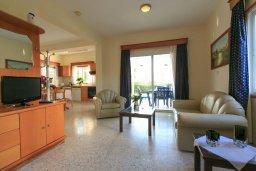 Гостиная. Кипр, Аргака : Уютная вилла с бассейном и зеленым двориком с барбекю, 2 спальни, 3 ванные комнаты, парковка, Wi-Fi