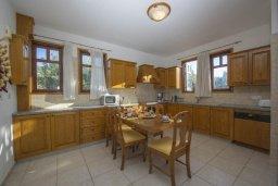 Кухня. Кипр, Аргака : Роскошная вилла с бассейном, зеленой лужайкой, детской площадкой и барбекю, 4 спальни, 5 ванных комнат, парковка, Wi-Fi