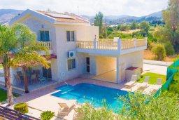 Фасад дома. Кипр, Айя Марина Хрисохус : Превосходная вилла с бассейном и двориком с барбекю, 4 спальни, 3 ванные комнаты, парковка, Wi-Fi